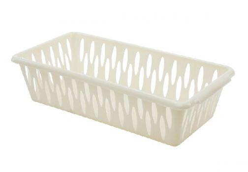 Корзина для хранения пластик Branq 30*19*9,5 см слоновая кость