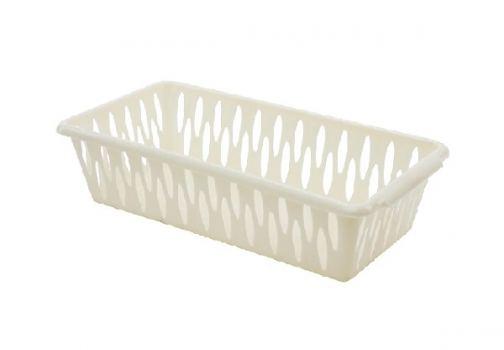 Корзина для хранения пластик Branq 25*15*7,2 см слоновая кость