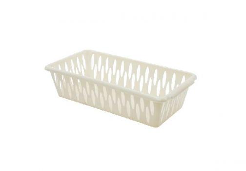 Корзина для хранения пластик Branq 19,5*10*5,0 см слоновая кость