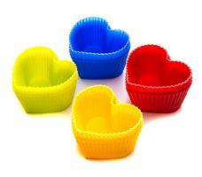 Набор форм для выпечки силикон Mayer&Boch Сердце 12 шт