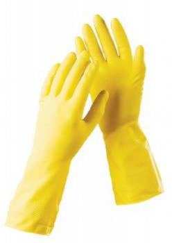 Перчатки хозяйственные латекс ZGM размер М желтые
