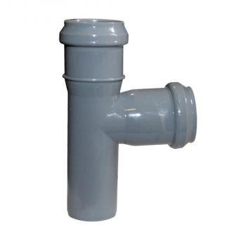 Тройник канализационный Sinikon 50 мм 90° серая