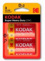 Батарейки Kodak Extra Heavy Duty, D, 2шт