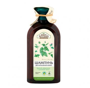 Шампунь для нормальных волос Зеленая аптека Крапива и Репейное масло 300 мл