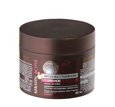 Маска-восстановление с кератином для волос ВИТЭКС 300мл
