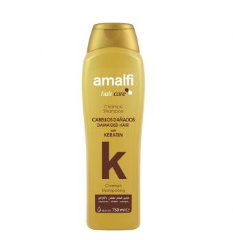 Шампунь для поврежденных волос кератиновый Amalfi 750 мл