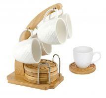 Кофейный набор на подставке Nouvelle 8 предметов