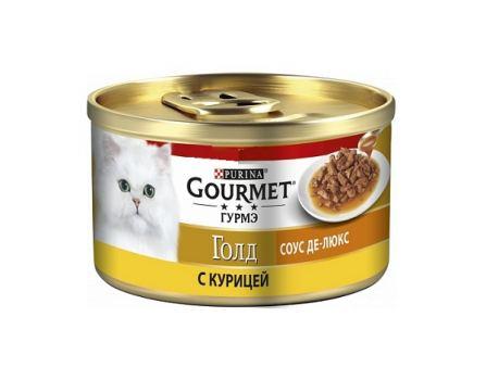 Корм для кошек соус де-люкс Gourmet с курицей 85 г