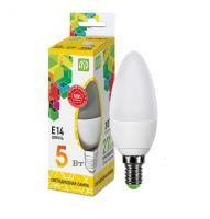Лампа светодиодная ASD LED Свеча 5Вт Е14 230В 3000К
