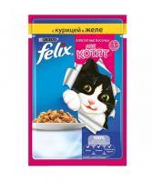Корм для котят аппетитные кусочки Felix с курицей в желе 85 г