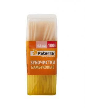 Зубочистки деревянные Paterra 100 шт
