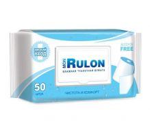 Влажная туалетная бумага с клапаном MonRulon 50 шт