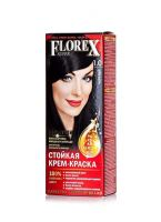 Крем краска для волос Florex super 1.0 чёрный