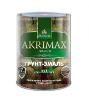 Эмаль- грунт 3в1 глянцевая Akrimax premium 0,8 кг коричневая