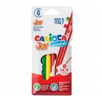 Набор фломастеров смываемые CARIOCA, JOY, 6 цветов