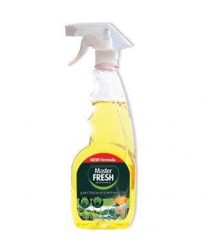 Средство для стекол Master FRESH c Ароматом лимона, 500 мл.