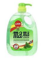 Средство для мытья посуды Mama Lemon, зеленый чай, 1 л