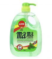 Средство для мытья посуды Mama Lemon, зеленый чай, 1л.