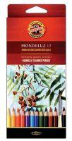 Набор карандашей акварельных KOH-I-NOOR Mondeluz, 12 цветов