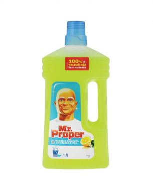 Средство для полов и стен Mr. Proper, лимон 1 л
