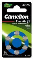 Батарейка Camelion A675 BL-6, батарейка для слуховых аппаратов, 1.4 V