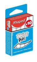 Мел школьный белый Maped White peps, 10 шт