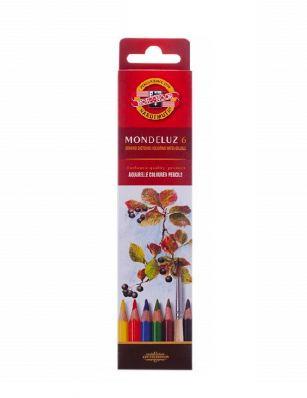 Набор карандашей акварельных Koh-i-Noor Mondeluz, 6 цветов
