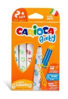 Набор фломастеров смываемые Carioca Baby VALOROUS, 6 цветов