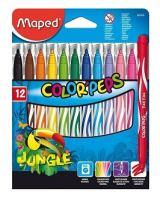 Набор фломастеров смываемые Maped Jungle, 12 цветов