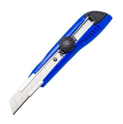 Нож канцелярский с металлическими направляющими 18 мм SPONSOR, цвет ассорти